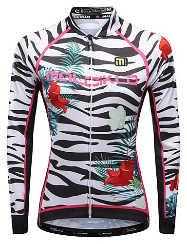 povoljno Odjeća za vožnju biciklom-Malciklo Žene Dugih rukava Biciklistička majica Crn Obala purpurna boja Cvjetni / Botanički Zebra Veći konfekcijski brojevi Bicikl Biciklistička majica Majice Brdski biciklizam biciklom na cesti