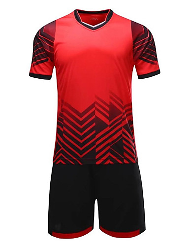 preiswerte Fußball-Hemden und Shorts-Herrn Fußball Sweatshirt Atmungsaktiv Feuchtigkeitsabsorbierend Fussball Geometrisch Polyester / Baumwollmischung Erwachsene Grün Blau Rosa