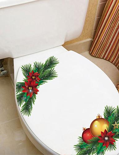 preiswerte Wand-Sticker-Bad Sticker - Ferien-Wand-Aufkleber Weihnachten / Blumenmuster / Botanisch Badezimmer / Küche