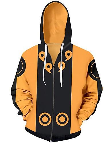 cheap Everyday Cosplay Anime Hoodies & T-Shirts-Inspired by Naruto Naruto Uzumaki Hoodie Terylene Cartoon Hoodie For Men's / Women's
