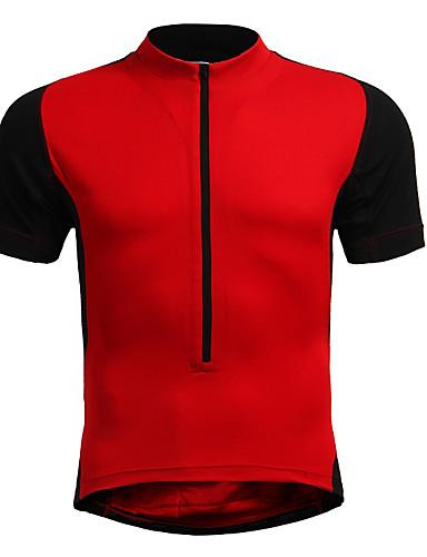 povoljno Odjeća za vožnju biciklom-Jaggad Muškarci Žene Kratkih rukava Biciklistička majica Crn žuta Bijela Veći konfekcijski brojevi Bicikl Biciklistička majica Majice Brdski biciklizam biciklom na cesti Prozračnost Quick dry Sportski