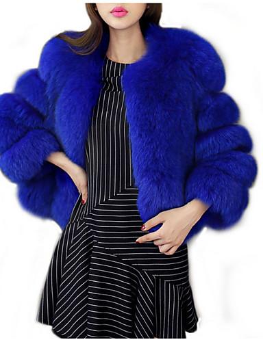 c14152a0bb1 Women s Daily Basic Short Fur Coat