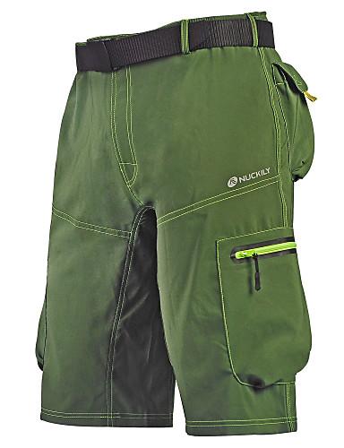 povoljno Odjeća za vožnju biciklom-Nuckily Muškarci Kratke hlače za MTB Bicikl Vrećaste hlače Kratke hlače za MTB Hlače Prozračnost Quick dry Anatomski dizajn Sportski Poliester Tamno siva / Tamno zelena / Vojska Green Brdski