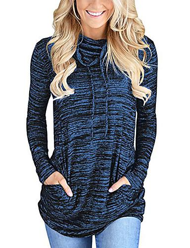 preiswerte Sportlich Damen Kapuzenpullover & Sweatshirts-Damen Grundlegend Pullover Solide / Herbst / Winter