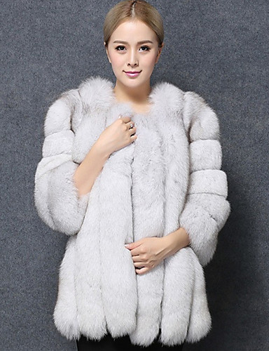 Women s Daily Regular Fur Coat f5e0b43a1