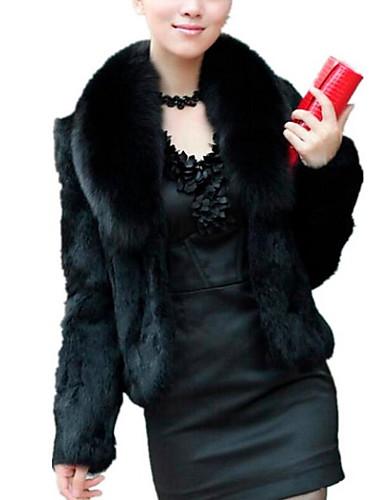 d04b6347ce5bc Women s Daily Basic Fall   Winter Short Fur Coat