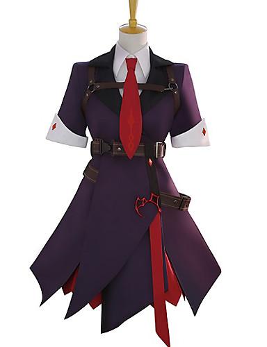 povoljno Maske i kostimi-Inspirirana Touhou projekt Remilia Scarlet Anime Cosplay nošnje Japanski Cosplay Suits S teksturom Suknje / Kaput / Rukavice Za Žene