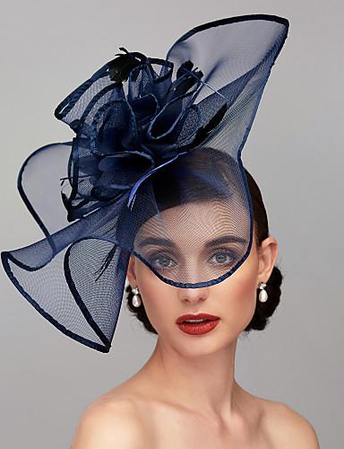 preiswerte Party Zubehör-Feder / Netz Kentucky Derby-Hut / Fascinatoren / Kopfbedeckung mit Feder / Blumig / Blume 1pc Hochzeit / Besondere Anlässe Kopfschmuck