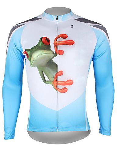 povoljno Odjeća za vožnju biciklom-ILPALADINO Muškarci Dugih rukava Biciklistička majica Plava i bijela žuta Bijela Žaba Bicikl Biciklistička majica Majice Brdski biciklizam biciklom na cesti Prozračnost Quick dry Ultraviolet Resistant
