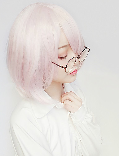 levne Cosplay paruky-Fate / zero Matthew Kyrielit Cosplay Paruky Dámské 14 inch Horkuvzdorné vlákno Růžová Anime