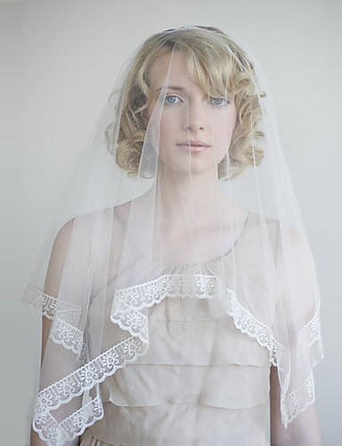 One Tier Vintage Style Clic Wedding Veil Fingertip Veils With Solid Tulle 6927851 2018 11 99