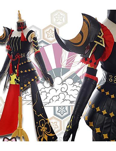 povoljno Maske i kostimi-Inspirirana Guns Girl - Dan škole Raiden Mei Anime Cosplay nošnje Japanski Cosplay Suits Cvjetni / Botanički Suknje / Top / Rukavice Za Žene / Šeširi