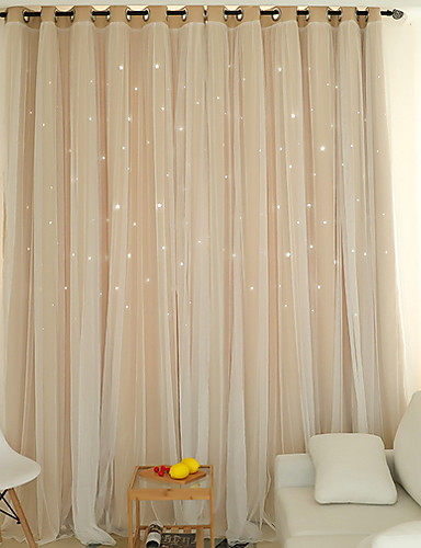 cheap Sheer Curtains-Modern Curtains Drapes Two Panels Curtain / Blackout / Bedroom