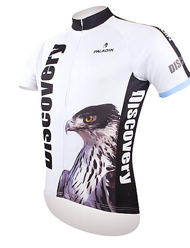 povoljno Odjeća za vožnju biciklom-ILPALADINO Muškarci Kratkih rukava Biciklistička majica Crno bijela / Orao Bicikl Biciklistička majica Majice Brdski biciklizam biciklom na cesti Prozračnost Quick dry Ultraviolet Resistant Sportski
