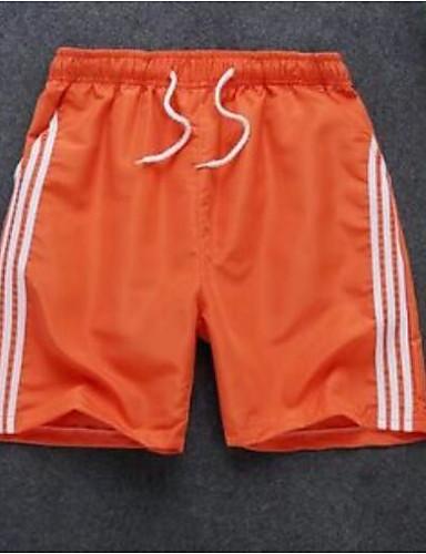 billige Herrebukser og -shorts-Herre Grunnleggende Store størrelser Ut på byen Shorts Bukser - Fargeblokk Snorer Hvit Svart Oransje S / M / L