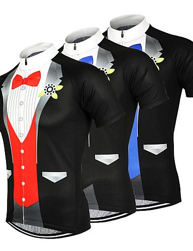 povoljno Odjeća za vožnju biciklom-Arsuxeo Muškarci Kratkih rukava Biciklistička majica Crn žuta Bijela T-shirt odijela Bicikl Biciklistička majica Majice Brdski biciklizam biciklom na cesti Prozračnost Ovlaživanje Quick dry Sportski