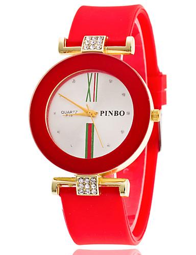 Dámské Náramkové hodinky Křemenný Silikon Černá   Bílá   Modrá Hodinky na  běžné nošení Analogové dámy Módní Barevná - Růžová Světle modrá Světle  zelená ... d8e255dab0