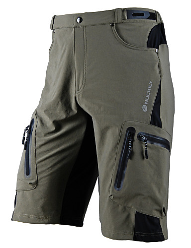 cheap Weekly Deal-Nuckily Men's Cycling MTB Shorts Lycra Bike Shorts MTB Shorts Pants Waterproof Breathable Quick Dry Sports Black / Army Green / Khaki Mountain Bike MTB Road Bike Cycling Clothing Apparel Advanced