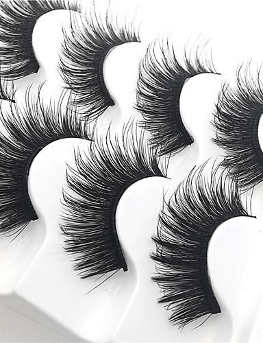 povoljno Alati za šminku-Trepavica 10 pcs Gust multi-alat Pro Prirodno Kovrčav Vlakno Vježba Dnevni Nosite Pune trepavice Gust - Šminka Mindennapos smink Glamurozna & Dramatic Visoka kvaliteta Kozmetički Potrepštine za