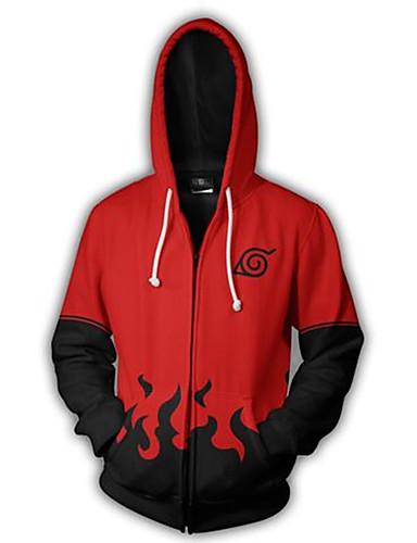 povoljno Maske i kostimi-Naruto Akatsuki Cosplay Hoodie Terilen Hoodie Za Muškarci / Žene