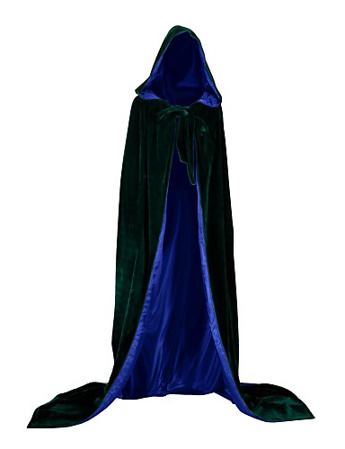 cheap Halloween & Carnival Costumes-Witch Vampire Cape Cosplay Costume Cloak Party Costume Costume Adults' Men's Cover Up Halloween Christmas Halloween Carnival Festival / Holiday Satin Velvet White / Black / Purple Men's Carnival