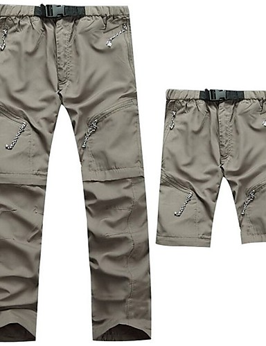 cheap Hiking Trousers & Shorts-Men's Hiking Pants Convertible Pants / Zip Off Pants Outdoor UV Resistant Breathable Quick Dry Sweat-wicking Pants / Trousers Bottoms Black Army Green Grey Khaki Camping / Hiking Fishing Climbing S M