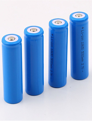 cheap Re11.11- Go Camping & Hiking - Freeing Your Soul-Li-ion 18650 Battery 5000 mAh 4pcs Rechargeable Portable for LED Flashlight Bike Light Headlamps Camping / Hiking Hunting Fishing