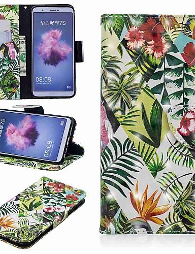 Θήκη Za Huawei Huawei P20 / Huawei P20 Pro / Huawei P20 lite Novčanik / Utor za kartice / sa stalkom Korice Biljke Tvrdo PU koža / P10 Lite