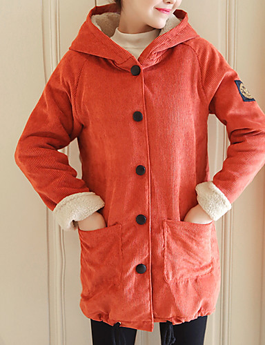 040ffdf037a Γυναικεία Καθημερινά Βασικό Μακρύ Kimono Jacket, Μονόχρωμο Με Κουκούλα  Μακρυμάνικο Βαμβάκι Ρουμπίνι / Πράσινο Χακί L / XL / XXL 6982266 2019 –  $36.99