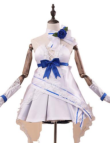 povoljno Maske i kostimi-Inspirirana Guns Girl - Dan škole Raiden Mei Anime Cosplay nošnje Japanski Cosplay Suits / Dresses Moda Bez rukávů Rukavice / Pojas / Neckwear Za Žene
