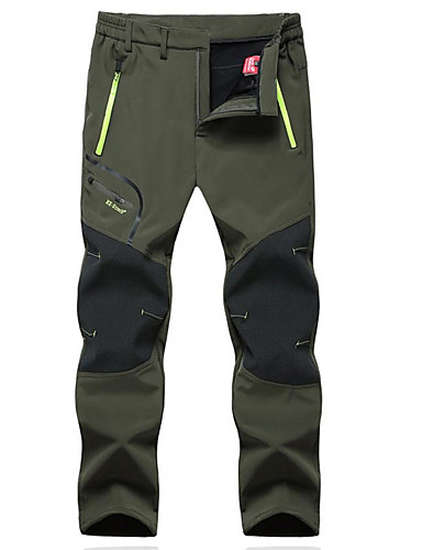 cheap Hiking Trousers & Shorts-Men's Hiking Pants Softshell Pants Outdoor Thermal / Warm Windproof Breathable Winter Fleece Pants / Trousers Hunting Fishing Hiking Black Army Green Grey XXXL 4XL 5XL / Micro-elastic / Quick Dry