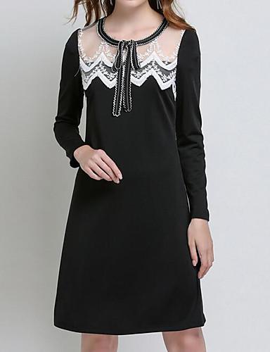 Womens Plus Size Birthday Basic Slim Little Black Dress Color