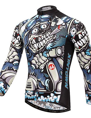 povoljno Biciklističke majice-XINTOWN Muškarci Dugih rukava Biciklistička majica Obala Bicikl Biciklistička majica Majice Brdski biciklizam biciklom na cesti Prozračnost Quick dry Ultraviolet Resistant Sportski Zima Elastan