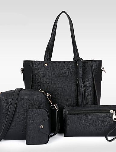 billige Shoes & Bags Must-have-Dame Dusk PU Veske Sett Posesett 4 stk vesken sett Svart / Brun / Rosa / Høst vinter