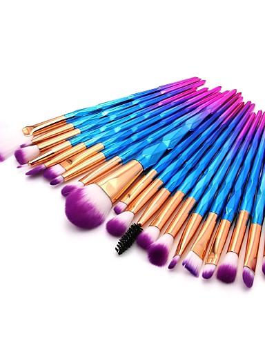 billige Sminkeverktøy-20pcs Makeup børster Profesjonell Rougebørste / Øyenskyggebørste / Leppebørste Nylon Fiber Full Dekning