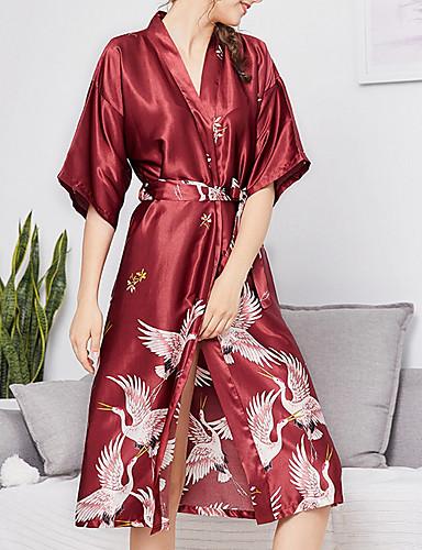 cheap Pajamas&Robes-Women's Cotton Deep V Robes Pajamas Geometric / Sexy