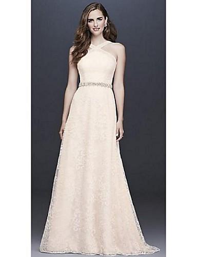 e3ed919c2b20 Plesové šaty Lodičkový Velmi dlouhá vlečka Šifón   Krajka Svatební šaty  vyrobené na míru s Krajka podle 6971815 2019 –  149.99