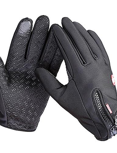 cheap Ski & Snowboard-Bike Gloves / Cycling Gloves Ski Gloves Touch Gloves Men's Women's Snowsports Full Finger Gloves Waterproof Windproof Warm Canvas Fleece Ski / Snowboard