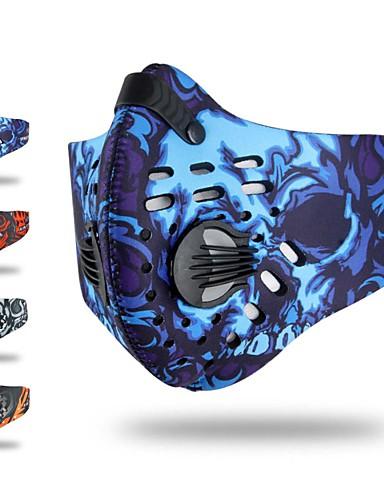 povoljno Odjeća za vožnju biciklom-Sportska maska Face Mask Headsweat kamuflaža Ποδηλασία Fitness, trčanje & Yoga Odvojivi runo Antibakterijsko djelovanje Bicikl / Biciklizam Crvena Plava Siva Spandex za Muškarci Žene Boy Odrasli
