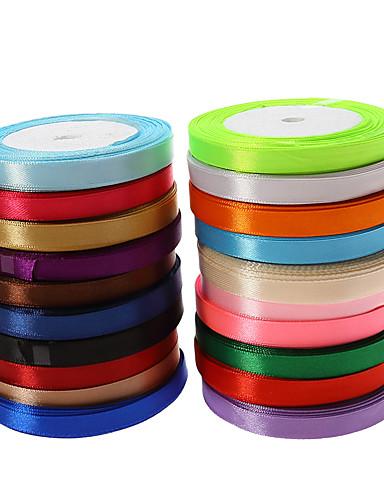 preiswerte Unter €7-Kreativ Volltonfarbe Schleife Satin Hochzeits-Bänder Stück / Set Satinband Einzigartiges Hochzeits-Dekor Dekorativer Geschenkhalter