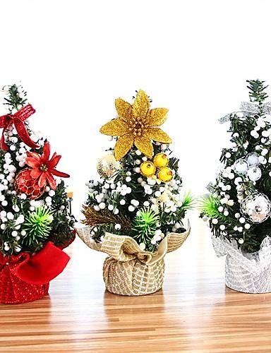 billige Julens andre ornamenter-20cm mini juletre xmas kunstig bordplate dekorasjoner festival miniatyr treet