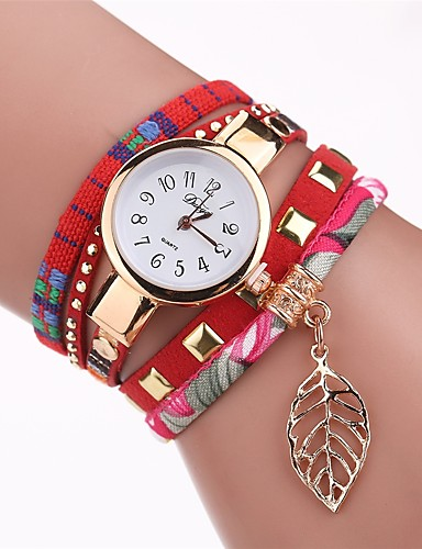 Women's Wrist Watch Quartz Black / White / Red New Design Casual Watch Analog Ladies Fashion Elegant - Fuchsia Brown Red One Year Battery Life