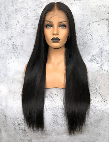 povoljno Perike s ljudskom kosom-Virgin kosa 360 Frontalni Perika Duboko udaljavanje Kardashian stil Brazilska kosa Yaki Straight Natural Perika 150% Gustoća kose Žene Dug Perike s ljudskom kosom Premierwigs