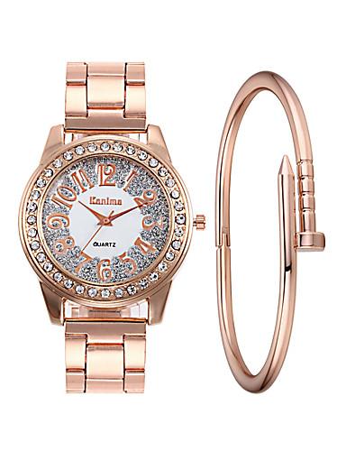 e3a0cb3d149b Mujer Reloj de Pulsera Reloj de diamantes Relojes de Oro Cuarzo Acero  Inoxidable Plata   Dorado   Oro Rosa 30 m Reloj Casual La imitación de  diamante ...