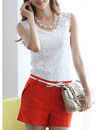 billige T-skjorter til damer-Tynn T-skjorte Dame - Ensfarget Hvit