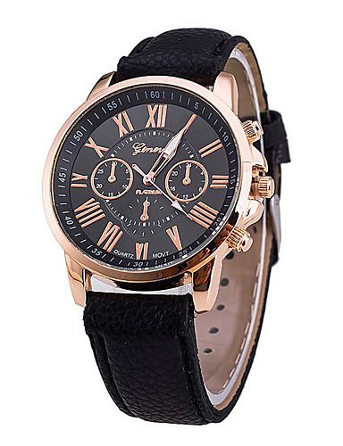 Žene Luxury Watches Ručni satovi s mehanizmom za navijanje Kvarc Umjetna koža Crna / Bijela / Plava 30 m Kreativan Analog Moda - Braon Zelen Plava