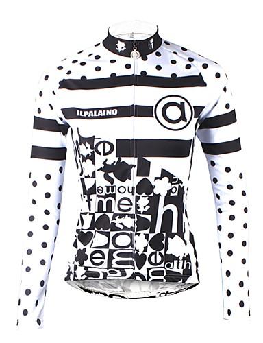povoljno Biciklističke majice-ILPALADINO Žene Dugih rukava Biciklistička majica Obala Na točkice Dungi Bicikl Biciklistička majica Majice Brdski biciklizam biciklom na cesti Ugrijati Podstava od flisa Ultraviolet Resistant / Zima