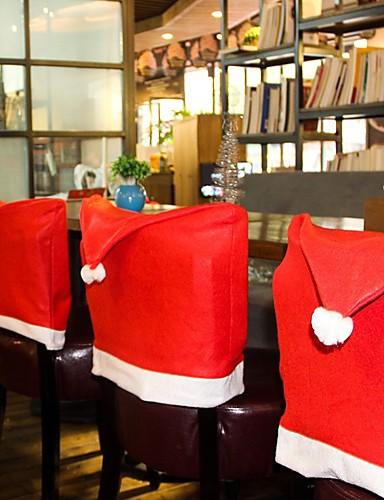 povoljno Božićni tekstil-božićni stolac natrag cover decoracion navidad šešir božićni ukrasi za dom večeru stol novu godinu xmas stolica pokriti