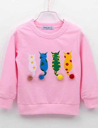 赤ちゃん 女の子 活発的 プリント 長袖 レギュラー フーディーズ&スウェットシャツ ブルー / 幼児