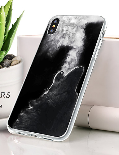 Case For Apple iPhone XS Dustproof / Ultra-thin / Pattern Back Cover Animal Soft TPU for iPhone XS